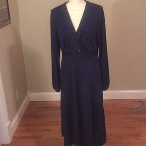 Talbots mother of the bride navy blue dress 14